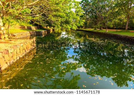 The gardens of Sigiriya, Sri Lanka. UNESCO World Heritage Site #1145671178