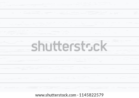 White wood plank texture for background. Vector illustration. #1145822579