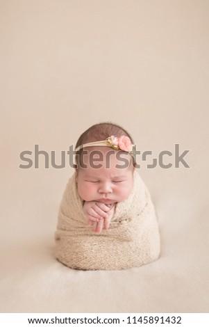 Newborn baby girl #1145891432