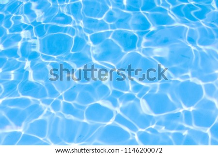 Water in swimming pool blue background #1146200072