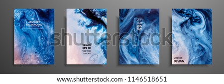 Abstract painting, can be used as a trendy background for wallpapers, posters, cards, invitations, websites. Modern artwork. Marble effect painting. Mixed blue, red and white paints.