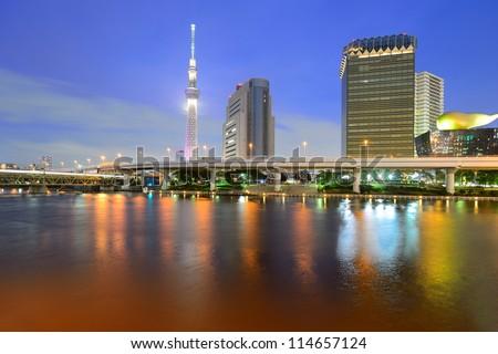 Tokyo skytree at dusk #114657124