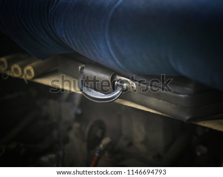 Hidden bomb briefcase, shallow depth of field closeup #1146694793