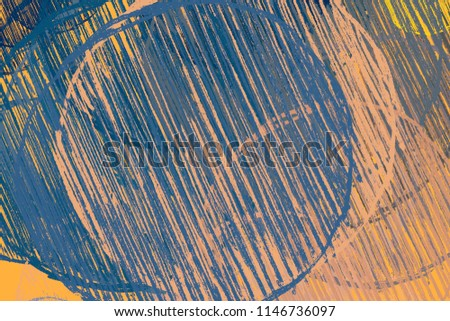 Contemporary art. Hand made art. Colorful texture. Modern artwork. Strokes of fat paint. Brushstrokes. Artistic background image. Abstract painting on canvas. #1146736097