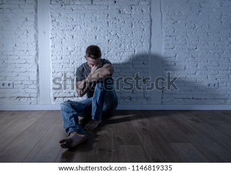 Young devastated depressed woman crying sad feeling hurt suffering depression in sadness emotion in pain and desperate expression. loneliness, depression and heartbroken concept #1146819335