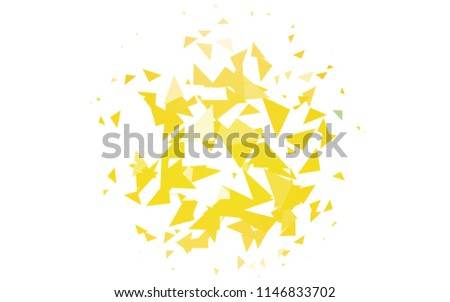 Light Orange vector of small triangles on white background. Illustration of abstract texture of triangles. Pattern design for banner, poster, cover. #1146833702