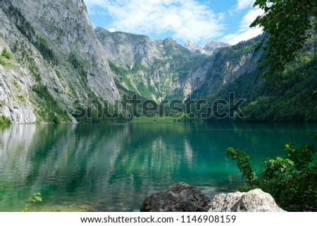 Lake Obersee in Berchtesgaden, Germany #1146908159