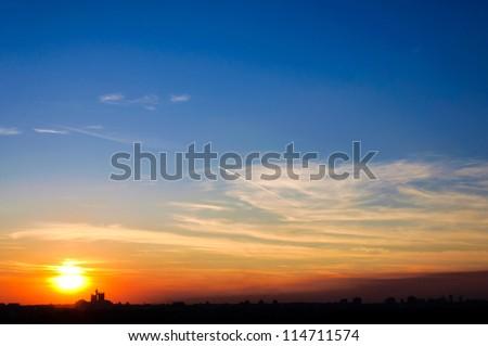 Sunset over Belgrade city #114711574