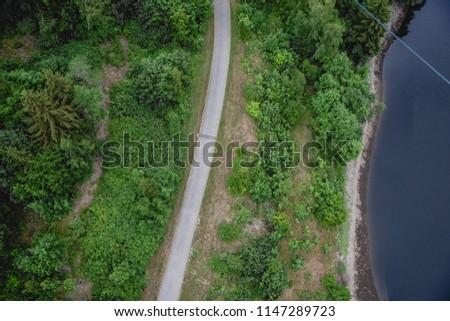 Rappbode Dam, Rappbodestausee ,   Elbingerode (Harz), Deutschland.  mountain river among the Green Forest #1147289723