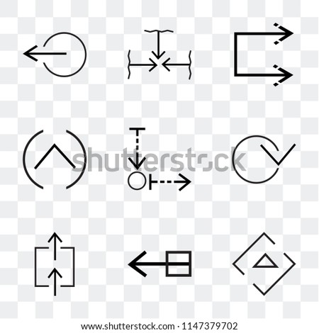 Set Of 9 simple transparent icons such as Right arrow, Drag, Expand, Download, Multiply, Up Shuffle, Move, Left can be used for mobile, pixel perfect vector icon pack #1147379702