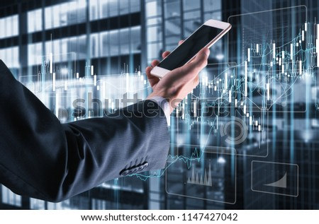 businessman using smartphone #1147427042