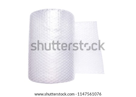 Woll of wrapping bubble film #1147561076
