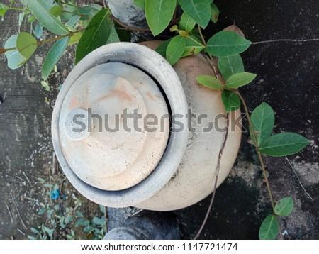 Old Pottery Pot #1147721474