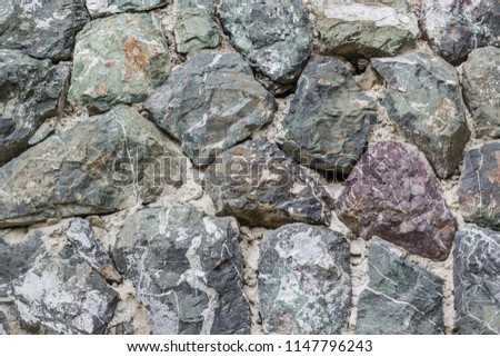 Grey Stone Facade #1147796243