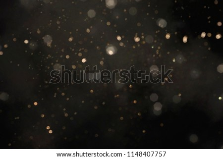 Gold abstract bokeh background, Merry Christmas and New Year background #1148407757