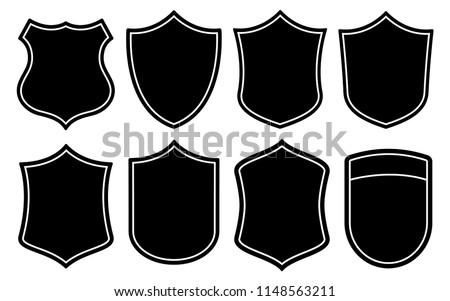 Badge Shape Vector Set Royalty-Free Stock Photo #1148563211