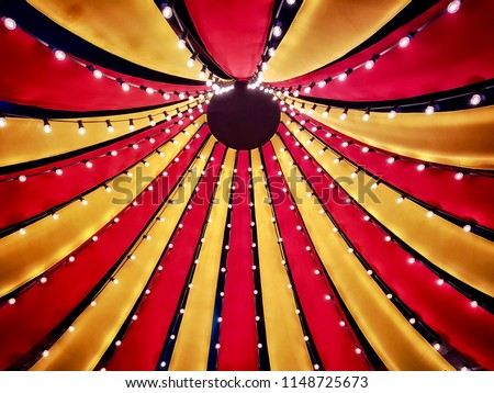 Circus tent top seen from inside #1148725673
