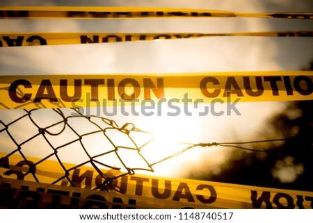 caution, zombie land Royalty-Free Stock Photo #1148740517