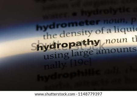 hydropathy word in a dictionary. hydropathy concept. #1148779397
