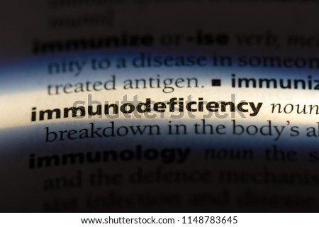 immunodeficiency word in a dictionary. immunodeficiency concept. #1148783645