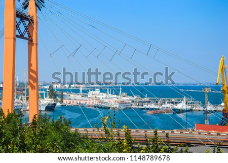 Odessa, Ukraine - August 21, 2015. Beautiful european people travel by famous resort historical ukrainian culture center. Visit traditional sightseeing and town architecture. Panoramic view background #1148789678