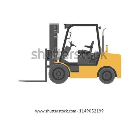 Forklift truck. flat style. isolated on white background #1149052199
