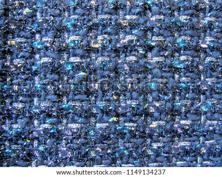 Colorful fabric tweed texture, background. Closeup horizontal fragment.