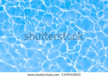 Water in swimming pool blue background #1149563810
