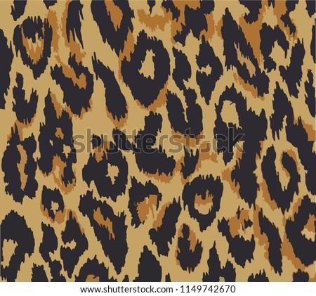 Leopard pattern design, vector illustration background. Animal design. Brown, orange, yellow