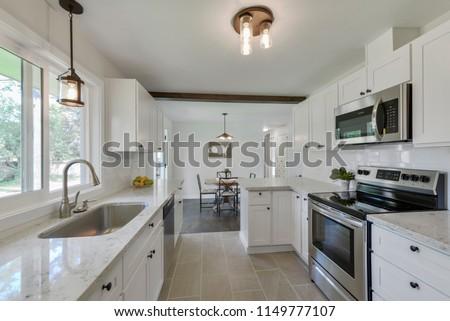Lakewood, WA / USA - July 30, 2018: Modern kitchen interior #1149777107