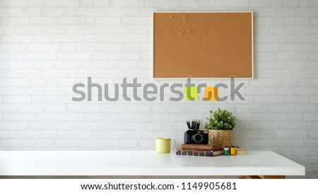 Scandinavian workspace and copy space. #1149905681