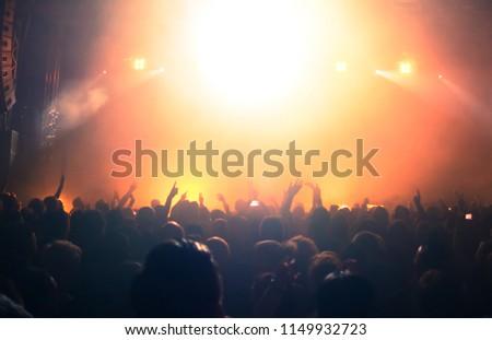 Concert crowd at rock concert #1149932723