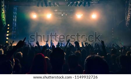 Concert crowd at rock concert #1149932726