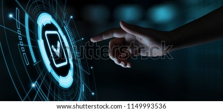 Standard Quality Control Certification Assurance Guarantee Internet Business Technology Concept. #1149993536