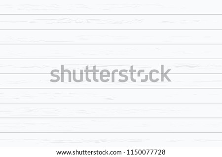 White wood plank texture for background. Vector illustration. #1150077728