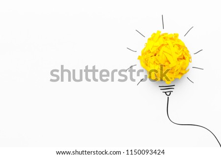 Concept of idea and innovation with paper ball #1150093424