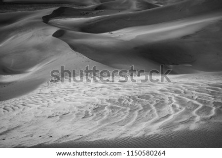 Shapes and patterns of the sand in Sand Dunes National Park, Colorado  #1150580264