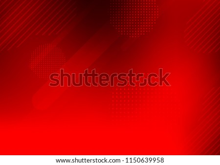 Light Red vector template with repeated sticks, circles. Modern geometrical abstract illustration with sticks, dots. Smart design for your business advert. Royalty-Free Stock Photo #1150639958