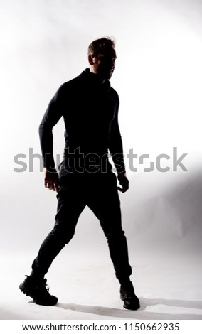 silhouette of sports man