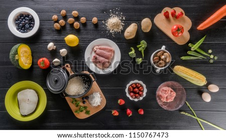 Fruit and vegetable fish food #1150767473