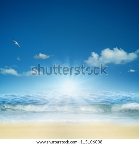 On the ocean. Abstract natural backgrounds for your design #115106008
