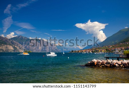 Beautiful coast of Garda Lake, Italy #1151143799