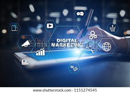 DIgital marketing technology concept. Internet. Online. Search Engine Optimisation. SEO. SMM. Advertising. #1151274545
