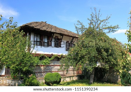 Traditional Bulgarian style home in Tryavna, Bulgaria. Travel 2 August 2018 #1151390234
