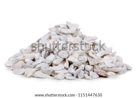 Marble rubble on white background #1151447630