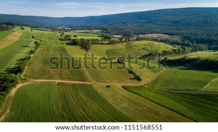 Scenic Valley in the Mountains #1151568551