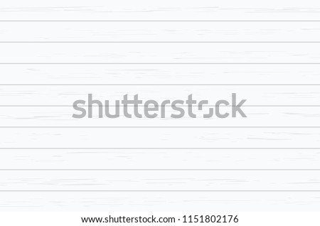White wood plank texture for background. Vector illustration. #1151802176