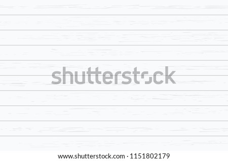 White wood plank texture for background. Vector illustration. #1151802179