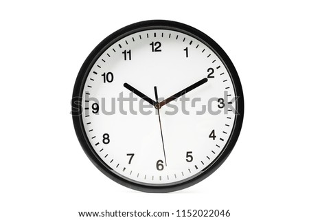 Simple classic black and white round wall clock #1152022046