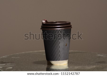 Paper coffee cup in coffee shop. #1152142787